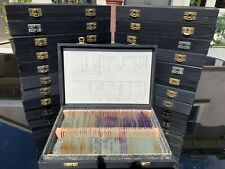 SET OF Up To 100 VINTAGE MICROSCOPE SLIDES IN BOX - GOOD ORDER (17 Available)