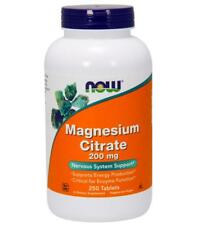 Magnesium Citrate 200 mg 250 tabs by NOW Foods