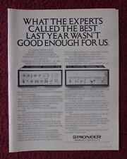 1978 Print Ad Pioneer Electronics SA9500II & TX9500II Stereo Tuner & Amp - Alive
