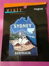 Sydney Australia Opera House Map Fridge Magnet Piece 2D Wooden OZ Aussie New