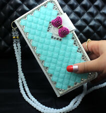 For HTC Desire 20 PRO Bling Luxury Leather slots Flip Wallet Case SKIN cover