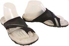 MERRELL BLACK THONG FLIP FLOP LEATHER SIZE US 8/EUR 39/UK 6 EUC