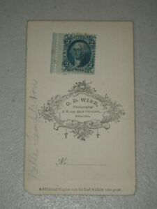 Washington 2 cent Proprietary US Inter. Rev. Blue US Postage Stamp Girl Photo