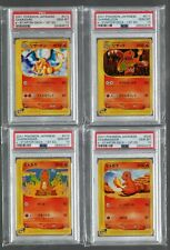 2001 E-Starter Deck 1st Edition 9 10 11 & 12 Charizard PSA 10 Pokemon Japanese