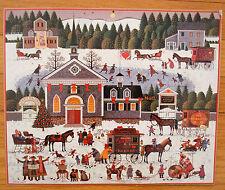 Advent Calendar Vintage Churchyard Christmas by Charles Wysocki 1988