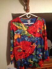 Pre Owned Women's Chicos Bold Floral Top , size3