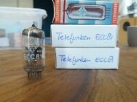 Very rare quad (4) tubes Telefunken ECC81 12AT7 with <> early 1960's tube!