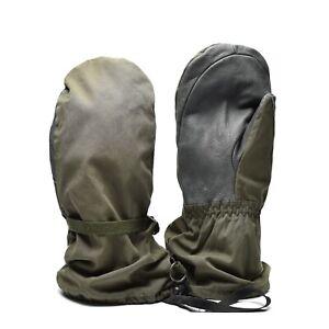 Genuine Austrian army Olive OD GoreTex mittens military waterproof combat gloves
