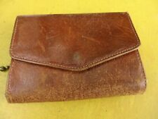 Vintage Small Brown English  Leather Coin Purse/ Wallet .