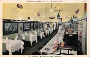 Postcard Brunswick Cafe Restaurant in Brunswick, Georgia~117675