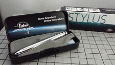 FISHER BULLET SPACE PEN CHROME-SILVER NEW with STYLUS *ON SALE* BLACK INK