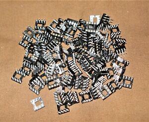 100 pcs Turned Pin D.I.L. sockets 8 Way NOS