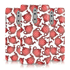 DYEFOR RED POLKA DOT TEAPOT PRINT WHITE PHONE CASE COVER FOR NOKIA