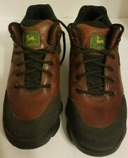 John Deere Florsheim 50726 Work Brown Leather Ankle Boots Lace Up Size 7 M