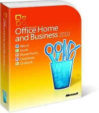 Microsoft Office 2010 Home and Business Full UK Retail box with Product key Card