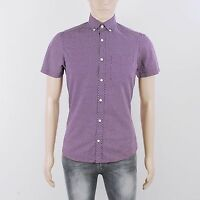 River Island Mens Size XS Purple Short Sleeve Shirt