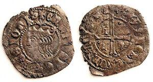 Spain- Enrique II(1334-1379). Cruzado. Sin marca de ceca. 1,6 g. EBC-/XF- ESCASA