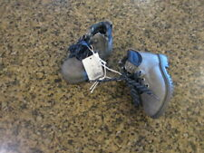 Cat & Jack Toddler Boy's 5 Lace Up Ankle Boots Gray 5 NWT zipper side NEW