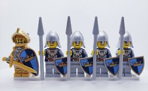 Lego CASTLE FANTASY ERA CROWN GOLD KNIGHT SOLDIERS MINIFIGS NEW CUSTOM VISOR