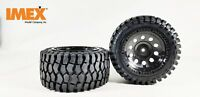 IMEX RC 1/5th K-Rock Tires w/ Rear Pluto Beadlock Rims (Black/Black)(1 Pair)