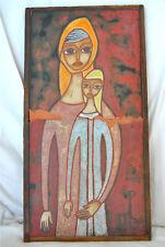 Greek Ceramic Art Panos Valsamakis original  60's two tiles signed  43cmX23 cm