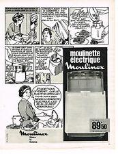 PUBLICITE ADVERTISING  1969   MOULINEX  moulinette éléctrique
