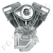 """S&S CYCLE 124"""" CARBURETED ENGINE MOTOR 1999-2006 TWIN CAM HARLEY - SILVER FINISH"""