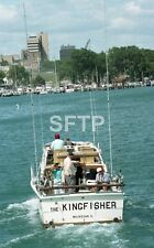 Lot of 6 Original Negatives Kingfisher Boat Fishing Boat Waukegan Illinois Water