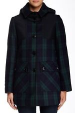 NWT $375 Pendleton Plaid Coat in Blackwatch; 12