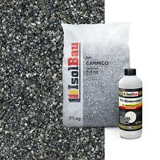 Steinteppich SET Marmorkies 25kg + PU-Bindemittel für 2,5m² Carnico 1/4mm