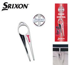 Dunlop SRIXON Japan Golf Ball Green Fork Divot Tool Ball Marker Silver