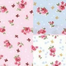 Cotton Poplin Fabric Material - Small Rose Floral - 113