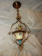 Cast Iron Spanish Revival Arts & Crafts Chandelier Fixture