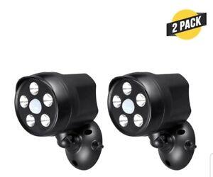 2Pcs 5Led Outdoor Motion Battery Spotlight for Arlo, Ring, Nest, Blink & Wyze