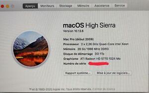 Mac Pro 5.1 - Intel Xeon 2,26 GHz - HDD 1 To - 28 Go