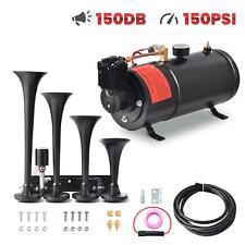 Train Horn Kit For Truckcarpickup Loud System 1g Air Tank 150psi 4 Trumpets