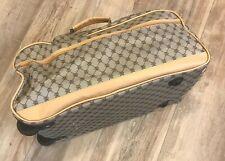 Schöne/praktische Damen Reisetasche mit Rollen, Farbe beige/braun gemustert