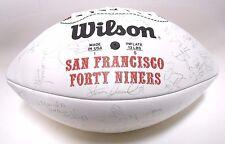 Jerry Rice Jesse Sapolu Terrell Owens 1996 49ers Team Autograph Signed Football