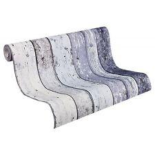 Livingwalls Tapete 855060 Natur Landhaus Streifen Farbe blau