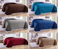 Soft Plush Reversible Corduroy/Sherpa Lined Over-sized Bed Blanket Queen & King