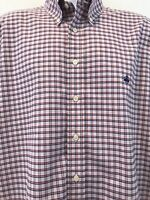 Brooks Brothers Mens L Slim Fit Shirt Supima Cotton Pink Check Button Up L/S