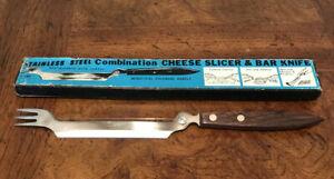Rare Vintage Barware Cheese Slicer / Bar Knife Combination