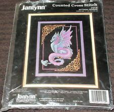 Janlynn Counted Cross Stitch Kit -Mythical Dragon  11'' x 15'' (14 Count)