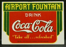 """Dollhouse Miniatures Metal Sign Advertising Airport COCA COLA 2 1/4"""" x 1 1/2"""""""