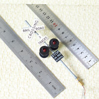 1 x O scale railroad grade crossing signals LED made 4 target faces black #2GR4X