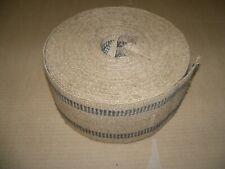 "Jute Webbing 3 1/2"" Black (dark blue) Stripe Upholstery Craft"