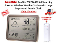 AcuRite 75077 Wireless Weather Station with Forecast and Atomic Clock NO SENSOR