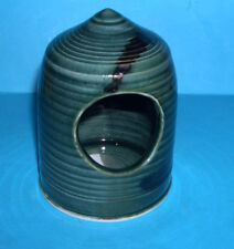 Vintage Studio Pottery - Attractive Fusion Glazed Front Opening Fixed Top Pot.