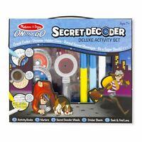 Childrens Melissa & Doug Secret Decoder Deluxe Activity Spy Play Kit Toy Age 7+