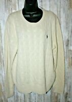 Vintage Ralph Lauren NWT Silk Cable knit sweater Cream L